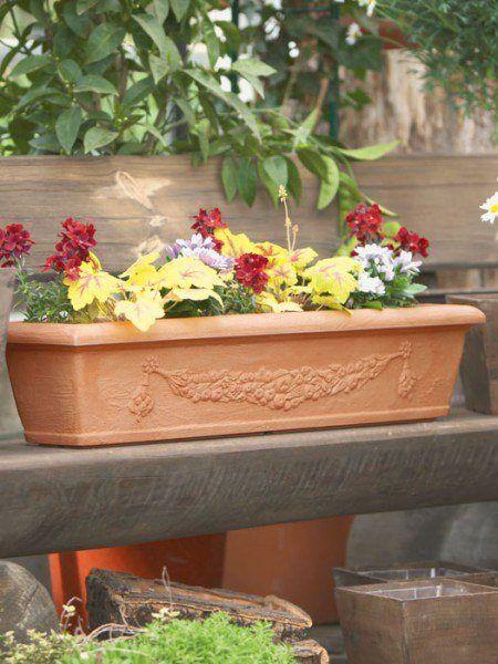 Blumenkasten Bergamo bepflanzt
