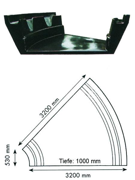Teich-Element 'Koi 1000 - Teilkreis' (GFK) (Art.Nr. KRU16210)
