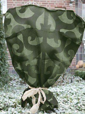 Jutesack mit Ornamenten grün