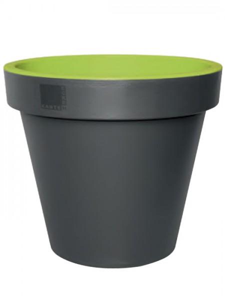 Pflanzkübel E&K Bicolor rund mintgrün