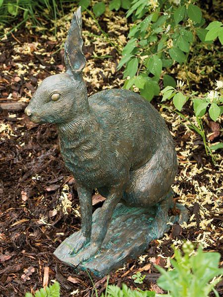 Bronzefigur Feldhase (Art.Nr. 88460)