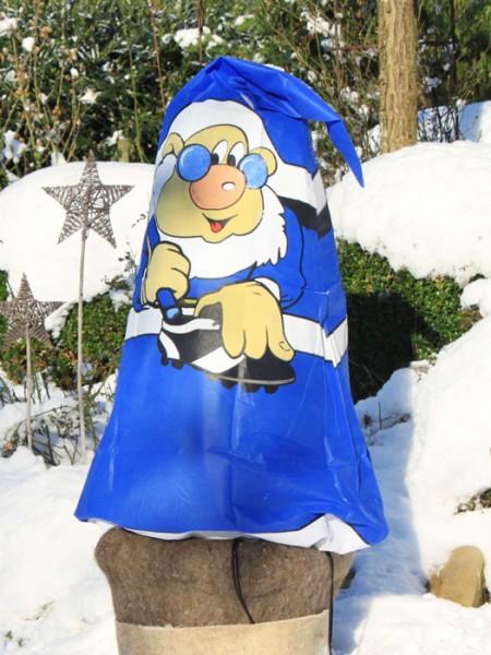 Winterschutzvlies blau-weiß