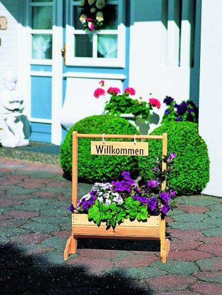 """Blumentrog """"Willkommen"""" klein (Art.Nr. P-353/5)"""
