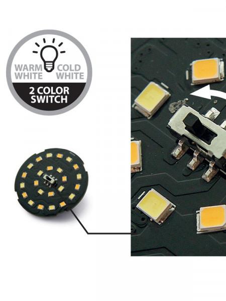 SMD LED Unit 12x Weiss/Warm Weiss 2W (Art.Nr. 6244011)