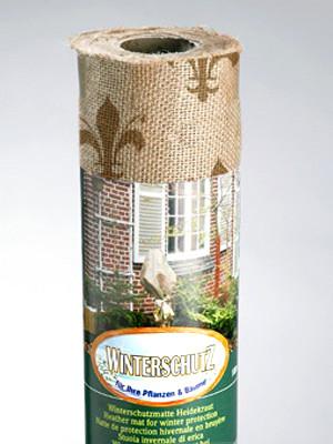 Winterschutz Jute-Gewebe mit Lilien-Design, natur/braun (Art.Nr. Vi27356)