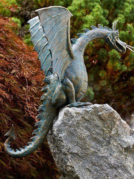 Bronzefigur Drachenvogel Saphira (Art.Nr. 90167)