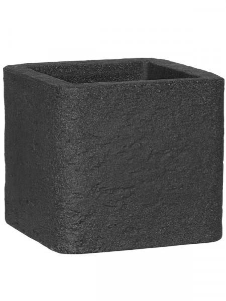 Pflanzkübel Kubus Stone anthrazit