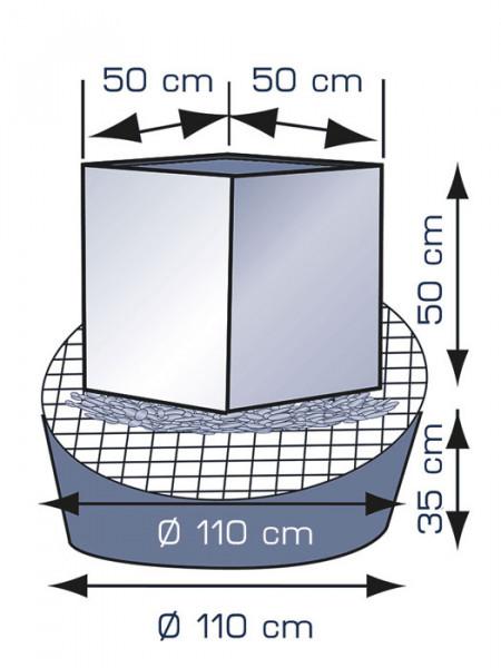 Brunnen mit Edelstahl-Würfel WaterCube von FIAP (Art.Nr. FI2608)