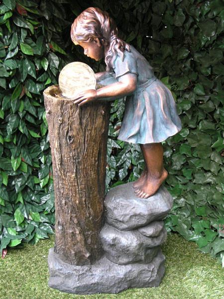 Brunnen 'Zhisheng, die Zauberin' aus Polystone (Art.Nr. gr810)
