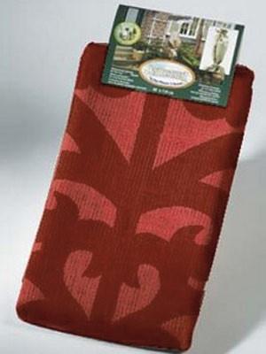 verpackter Jutesack mit Ornamenten rot