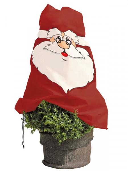 lustige Winterschutz Vlieshaube Weihnachtsmann