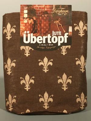 """Jute-Übertopf """"Lilien-Design"""""""