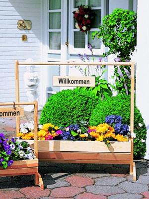"""Blumentrog """"Willkommen"""" groß (Art.Nr. P-353/51)"""