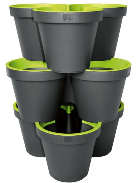 3er Säulentopf E&K mintgrün