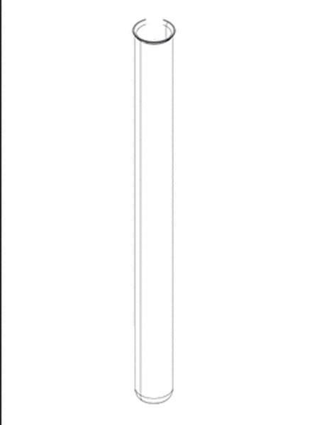 Ersatz-Quarzglasrohr D44 x 518 mit Bördelrand von OASE (Art.Nr. 13331)