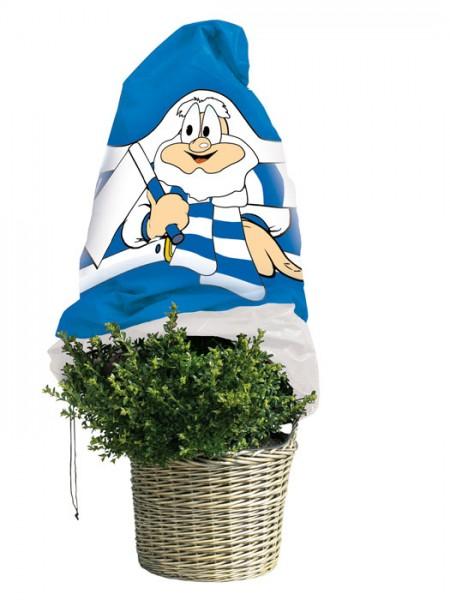 """Winterschutz Vlieshaube """"blau-weiß"""" (Art.Nr. Vi29133)"""