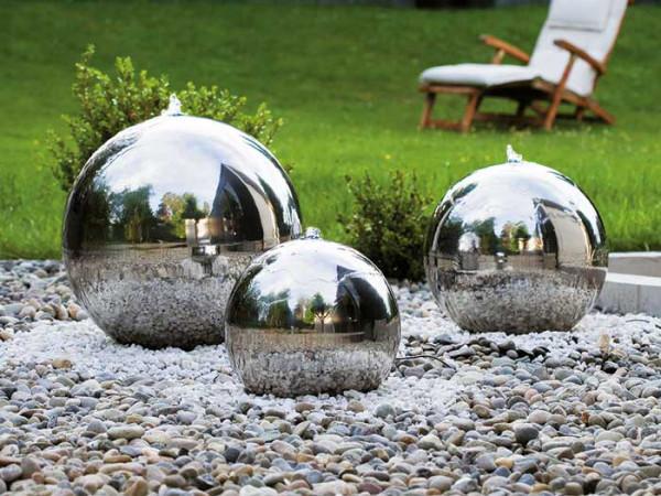 Brunnen mit Edelstahlkugel, WaterBall 400 von FIAP (Art.Nr. FI2604)