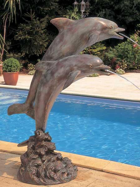 Bronzefigur Delfine duo (Art.Nr. 88133)