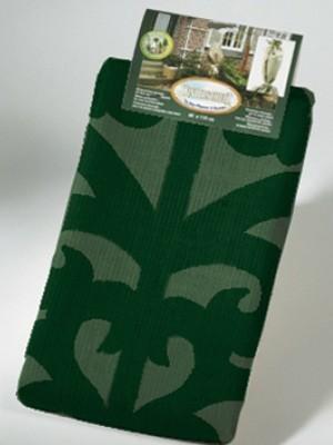 verpackter Jutesack mit Ornamenten grün