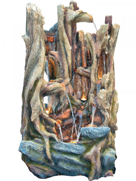 Wasserfall-Brunnen Jiuzuanaus Polystone (Art.Nr. gr198)