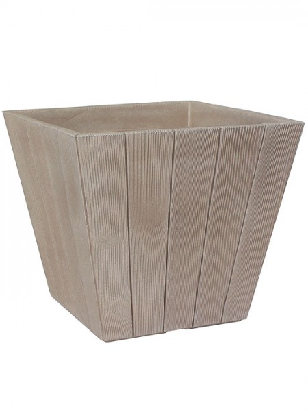 Pflanzkübel Woody quadratisch hellbraun