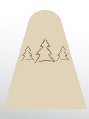 """Winterschutz-Vlieshaube """"Tannenbäume"""" (Art.Nr. Vi28433)"""