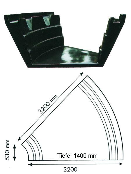 Teich-Element 'Koi 1400 - Teilkreis' (GFK) (Art.Nr. KRU16214)
