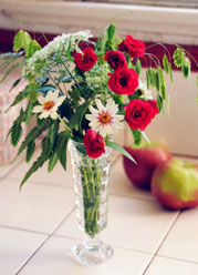 Vase mit Schnittstauden